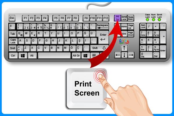 Print Screen Ekran Alıntısı Tuşu